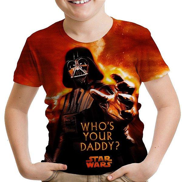 Camiseta Infantil Darth Vader Star Wars Estampa Total Md01