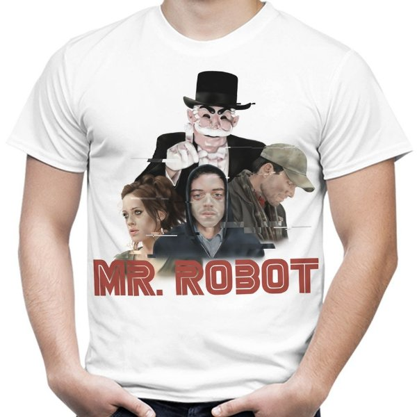 Camiseta Masculina Mr. Robot Estampa Total Md03