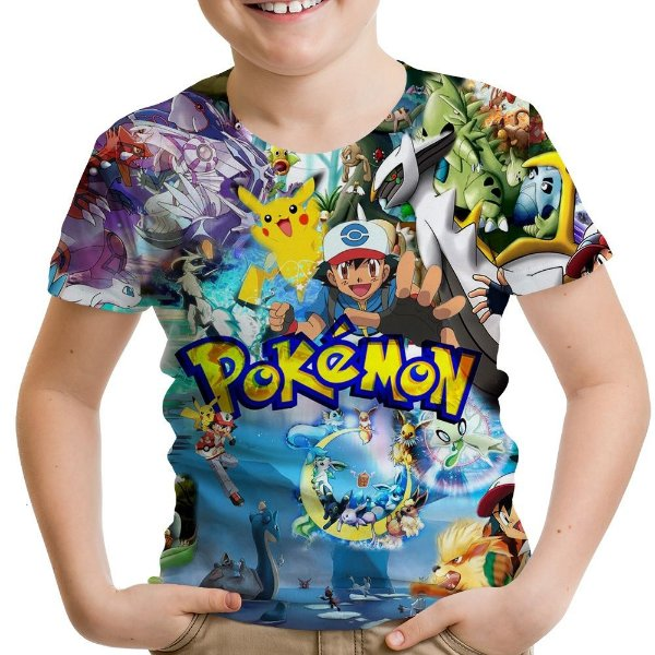 b4b07a6b12 Camiseta Infantil Pokemon Estampa Total MD02 - Smart4Me