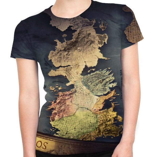 Baby look Feminina Westeros Game Of Thrones Estampa Total