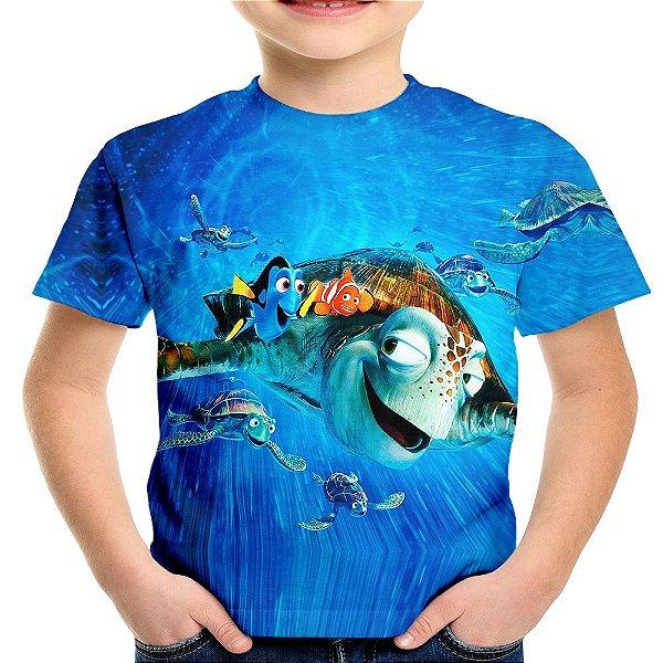 Camiseta Infantil Filme Procurando Nemo Md01