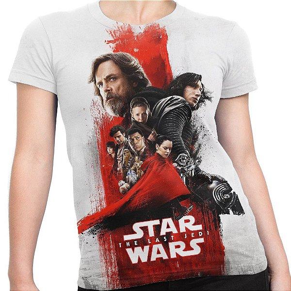 Camiseta Baby Look Feminina Star Wars Viii 8 Md04
