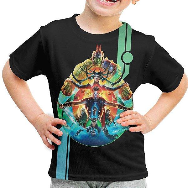 Camiseta Infantil Thor Ragnarok Md03