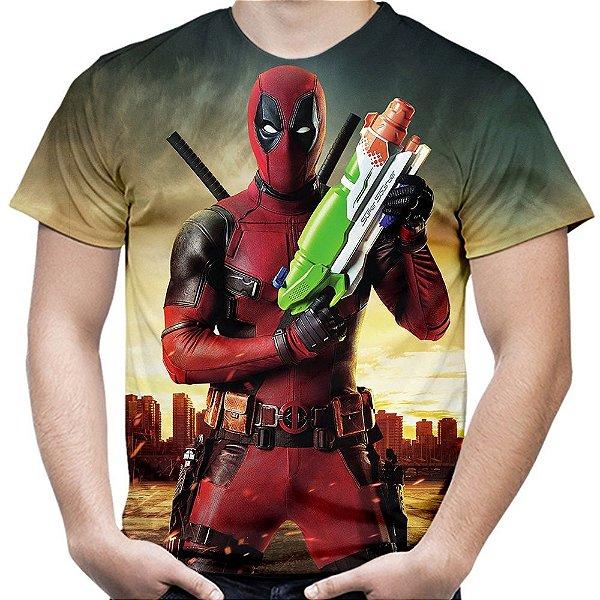 Camiseta Masculina Deadpool Estampa Total MD03
