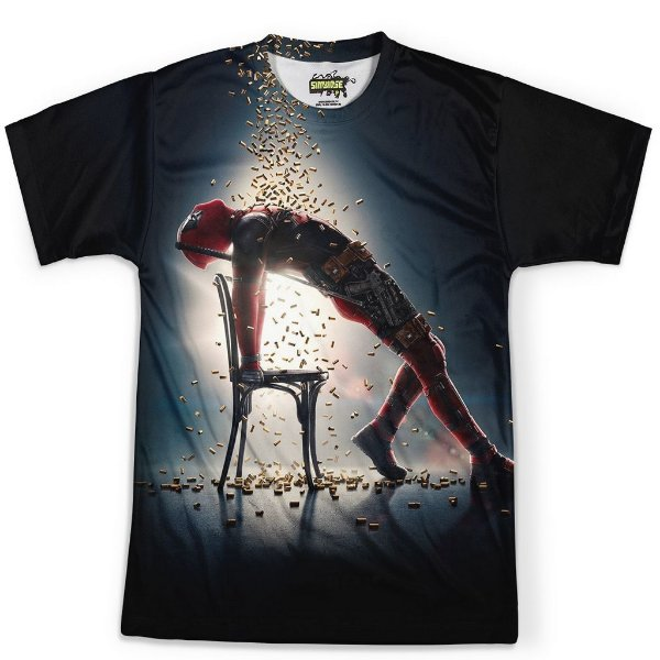 Camiseta Masculina Deadpool Estampa Total MD05