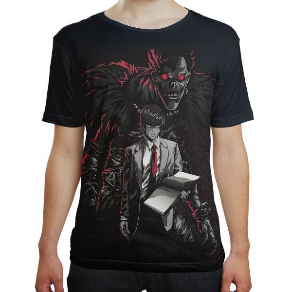 Camiseta Masculina Death Note Ryuk Light Turner Md02