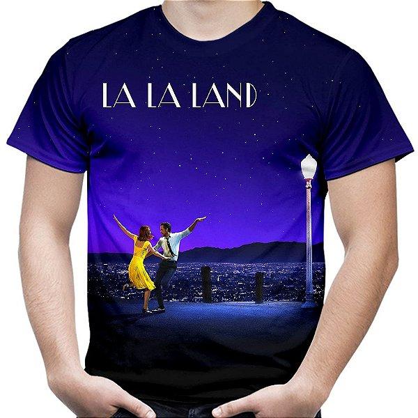 Camiseta Masculina La La Land Estampa Total