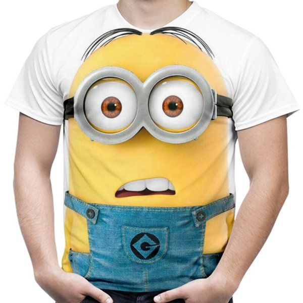 Camiseta Masculina Minions Estampa Digital Md01