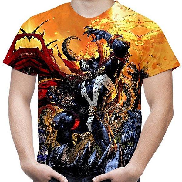 Camiseta Masculina Spawn Estampa Total MD03