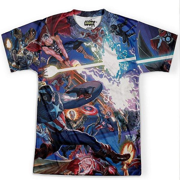 Camiseta Masculina Avengers Vingadores MD04