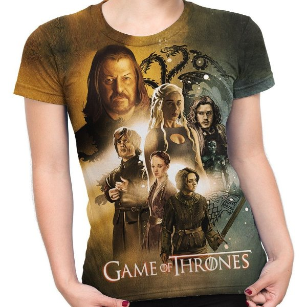 7cfe5050a Baby look Feminina Game Of Thrones Estampa Total Md03 - Smart4Me