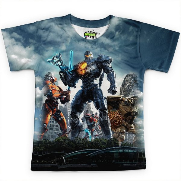 Camiseta Infantil Círculo de Fogo Pacific Rim Md02