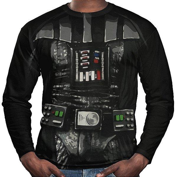 Camiseta Darth Vader Manga Longa Unissex Traje