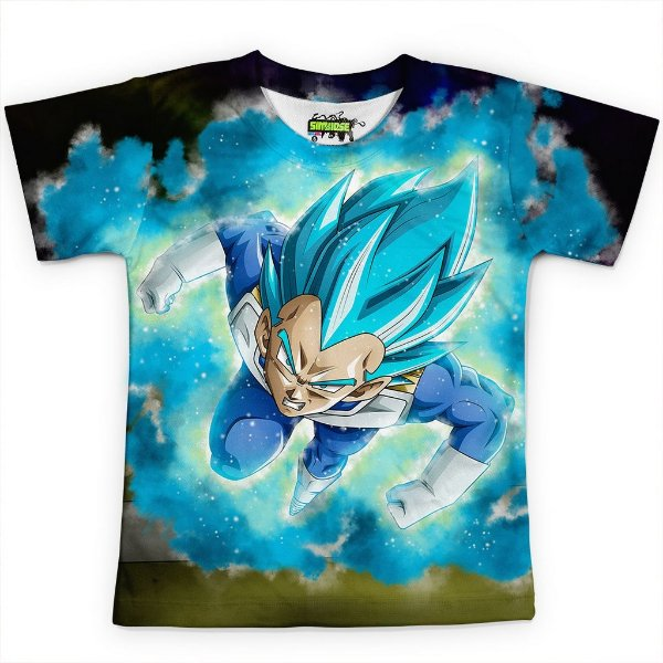 Camiseta Infantil Vegeta Dragon Ball Super MD10