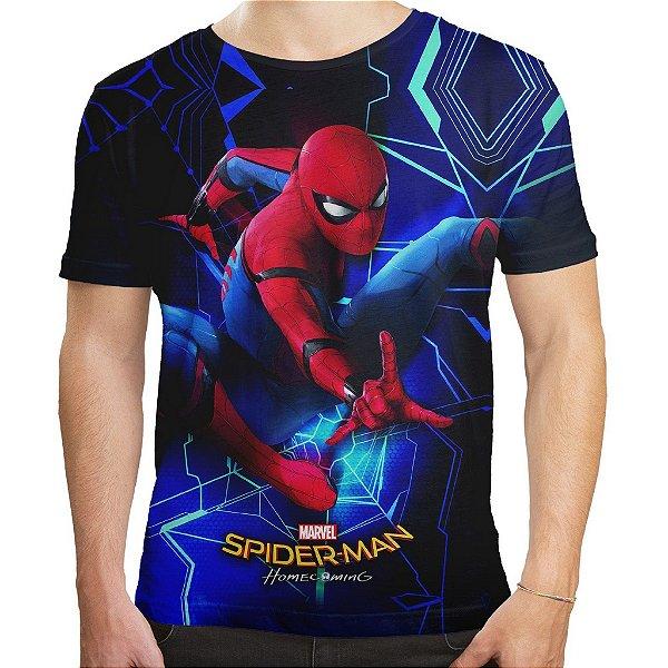 Camiseta Masculina Filme Homem Aranha Homecoming Md02