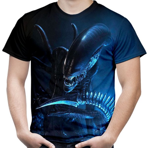 Camiseta Masculina Alien Md01