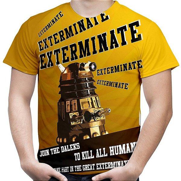 Camiseta Masculina Dalek Doctor Who Estampa Total