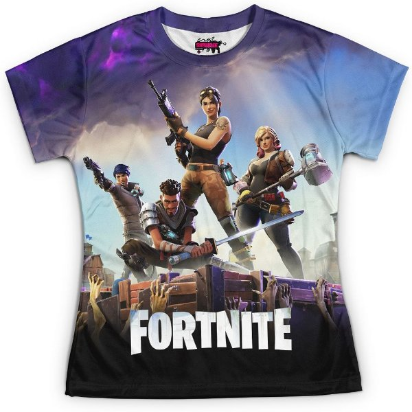 Camiseta Baby Look Jogo Fortnite Md01