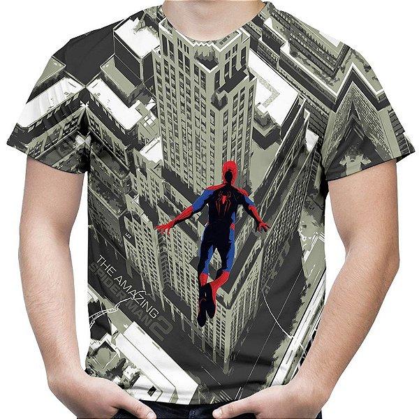 Camiseta Masculina Homem Aranha Salto Estampa Total