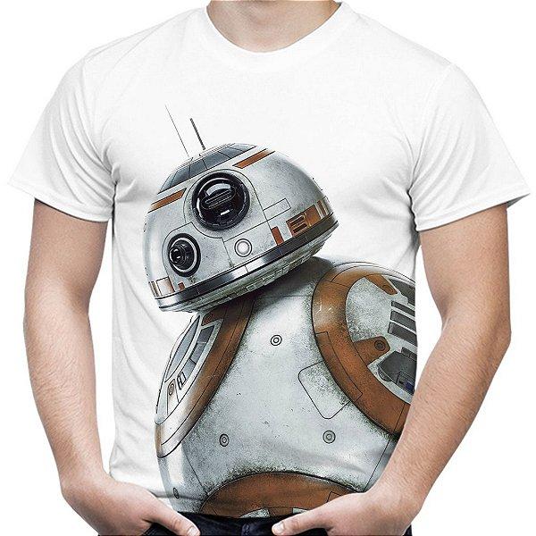 Camiseta Masculina BB8 Star Wars Estampa Total