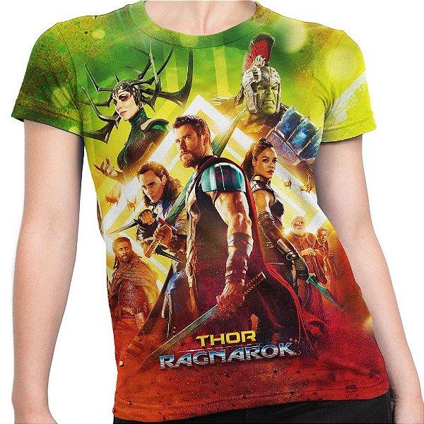 Camiseta Baby Look Feminina Thor Ragnarok Md02