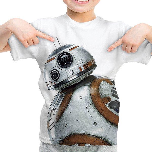 Camiseta Infantil BB8 Star Wars Estampa Total
