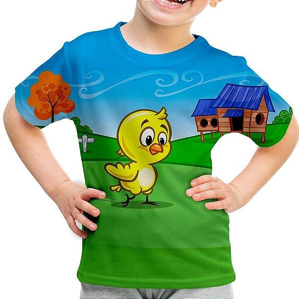 Camiseta Infantil Pintinho Amarelinho