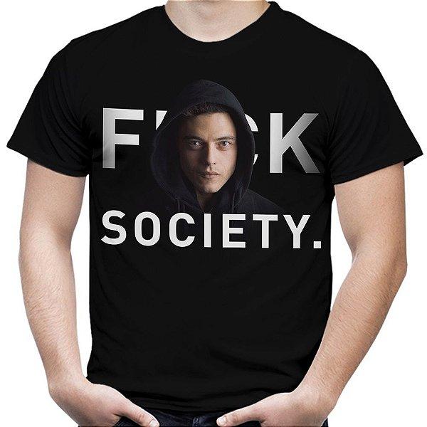 Camiseta Masculina Mr. Robot Estampa Total Md01