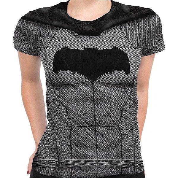 Baby Look Feminina Batman Traje