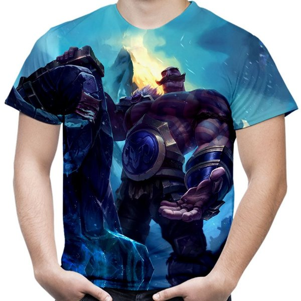 Camiseta Masculina Braum League of Legends Estampa Total