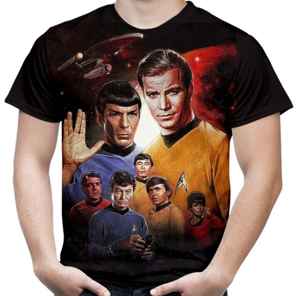 Camiseta Masculina Star Trek Estampa Total Md06