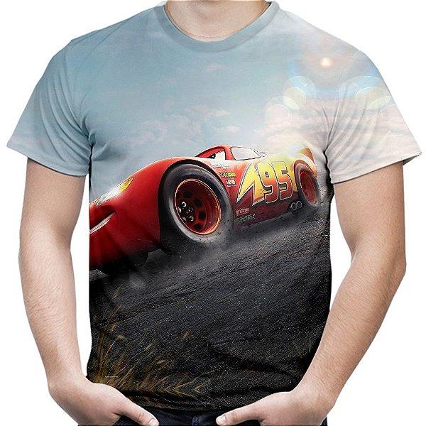 Camiseta Masculina Carros 3 Relâmpago Mcqueen Md02
