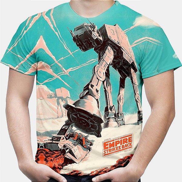 Camiseta Masculina Walker AT-AT Star Wars Estampa Total