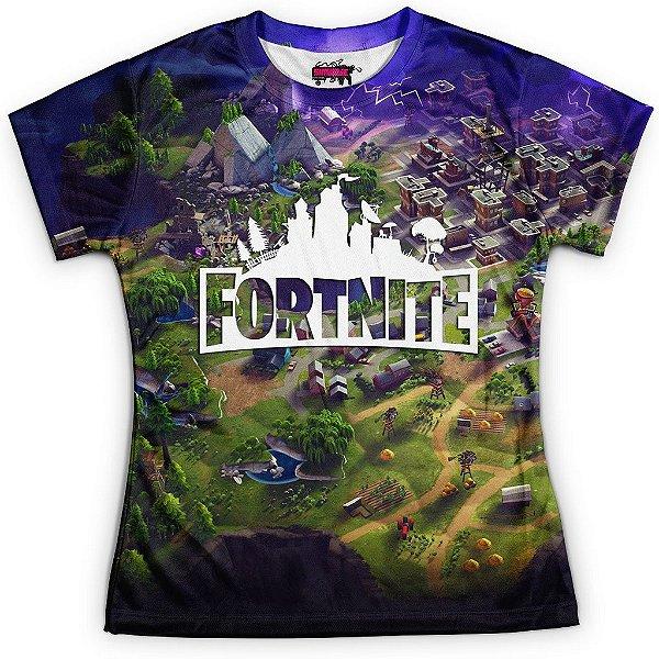 Camiseta Baby Look Jogo Fortnite Md02