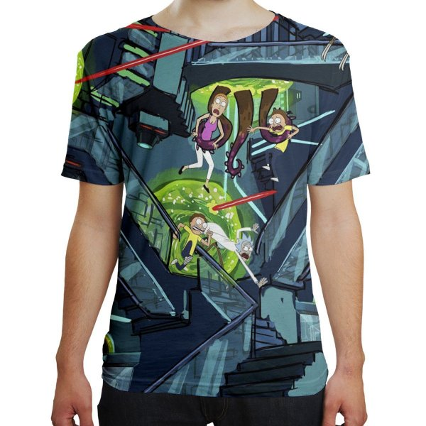Camiseta Masculina Rick and Morty Md04