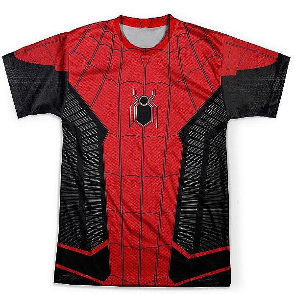 Camiseta Infantil Homem Aranha Longe de Casa Traje