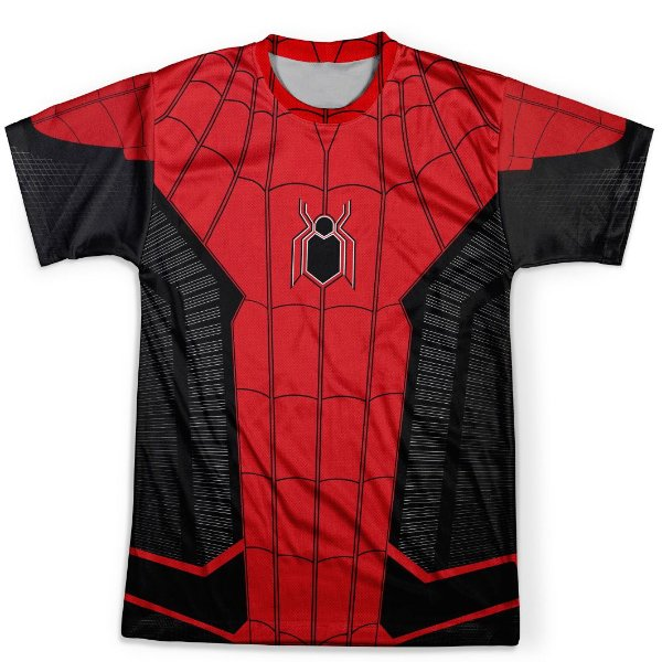 Camiseta Masculina Homem Aranha Longe de Casa Traje