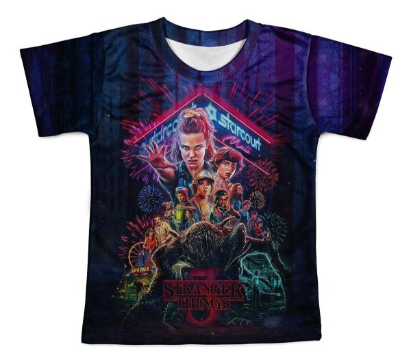 Camiseta Infantil Stranger Things Md04