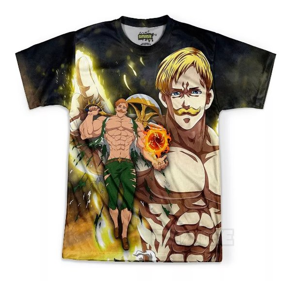 Camiseta Masculina The Seven Deadly Sins Escanor
