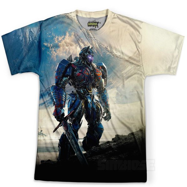 Camiseta Infantil Optimus Prime Transformers Md03