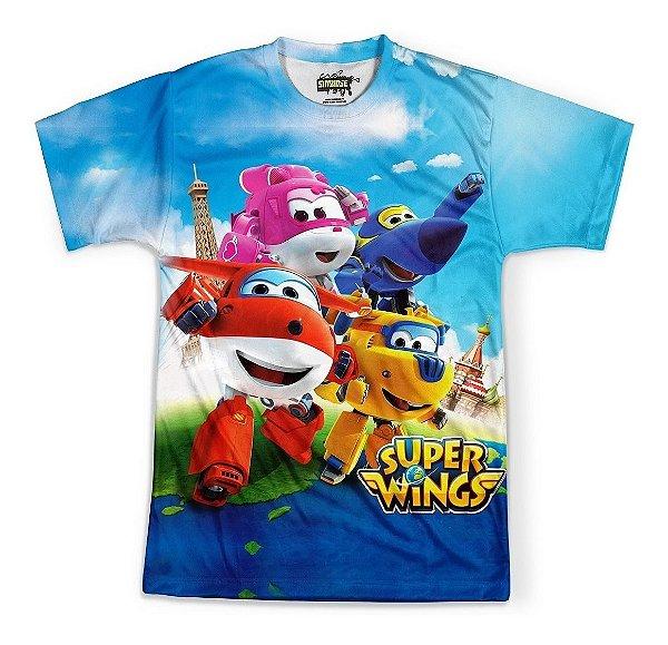 Camiseta Masculina Super Wings