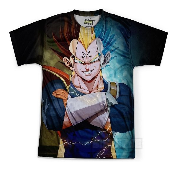 Camiseta Masculina Majin Vegeta Dragon Ball Md12