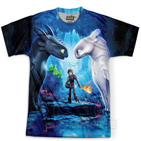 Camiseta Masculina Como Treinar Seu Dragão 3