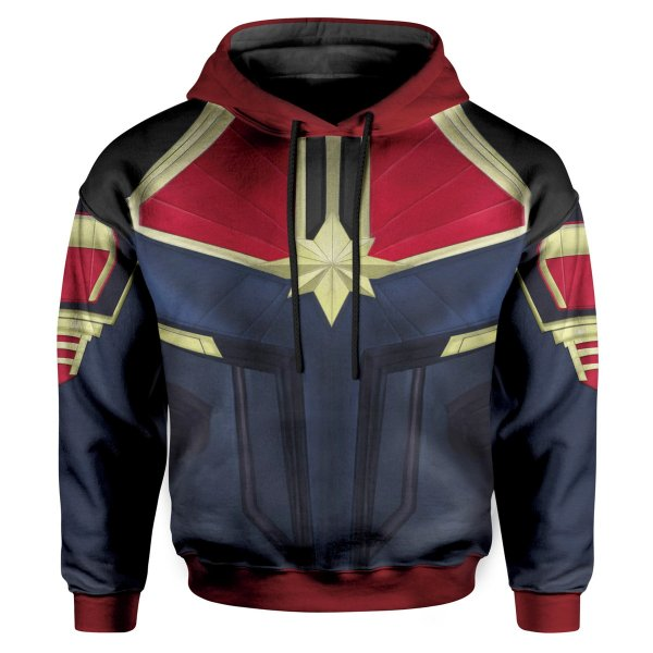 Moletom Infantil Com Capuz Capitã Marvel md02