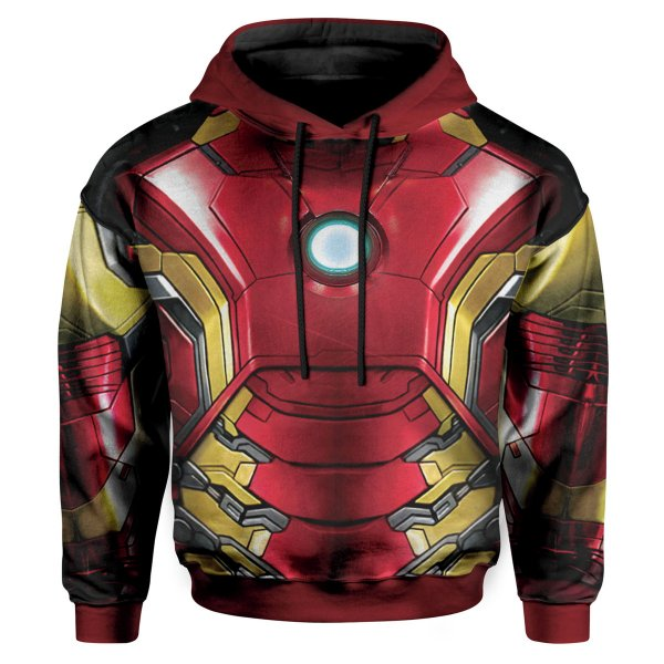 Moletom Infantil Com Capuz Iron Man MD03