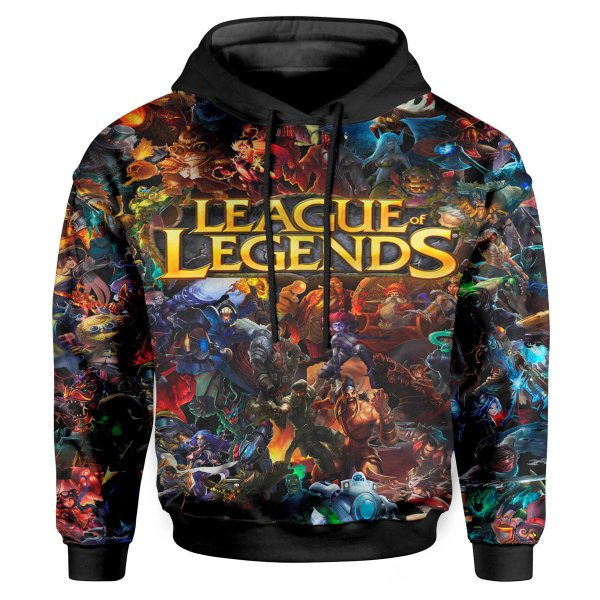 Moletom Infantil Com Capuz Unissex League of Legends MD03