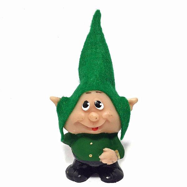 Duende dos Desejos Ícaro - Gnomo Verde 10cm