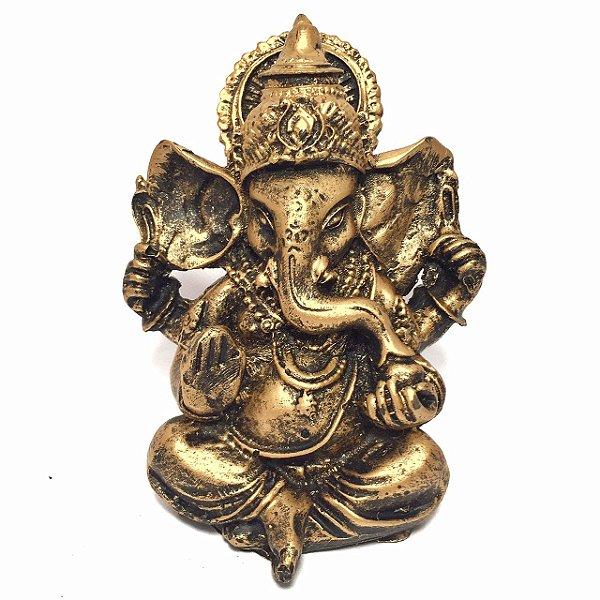 Ganesha Dourado Pequeno 10cm