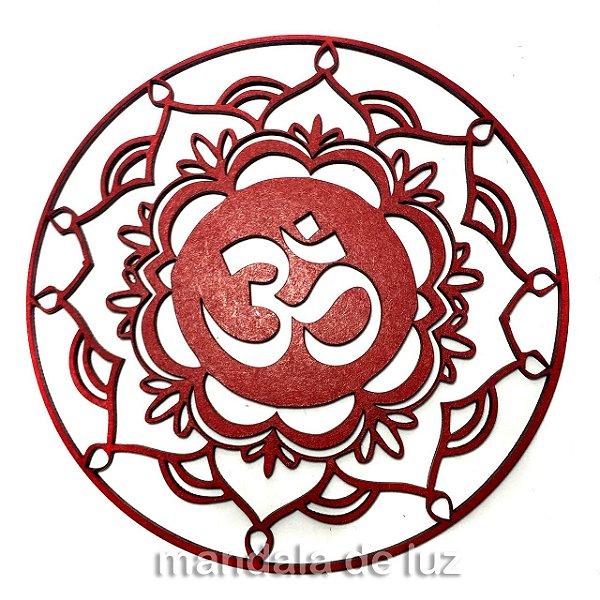 Mandala Mdf Vermelha do OM