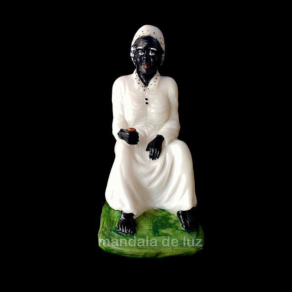 Estátua de Preta Velha Resina 20cm